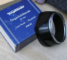 Voigtlander # 310/541 54mm slip on lens hood & original box 5cm septon fit