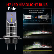2PCS Car Truck H7 LED Headlight Bulbs 100W 26000LM No Errors 6000K CSP Chip Lamp