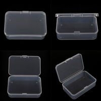 Clear Plastic Transparent With Lid Storage Box Collection Container Case Nic PLC
