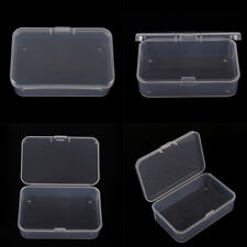 Clear Plastic Transparent With Lid Storage Box Collection Container Case Nice FQ