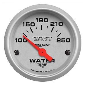 "Auto Meter 4337 Ultra Lite 2 1/16"" Electric Water Temp Gauge 100-250 deg. F"