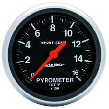 "Auto Meter Boost/Pyrometer Gauge 3544; Sport-Comp Kit 1600°F 2-5/8"" Electrical"