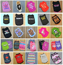 Hot Cute Summer Various Pet Puppy Small Dog Cat Pet Clothes Dollar Vest Apparel
