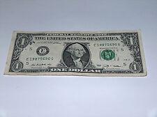 2009 $1 Bill US Bank Note Date Year Birthday 1980's 1987 5690 Fancy Serial #