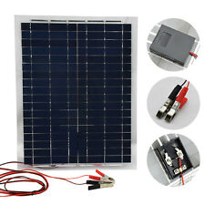 20W Mono 12V Waterproof Solar Panel Battery Charger + 10A Charge Controller