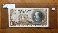 1967-76 Chile 10 Escudos Banknote, KM# 143