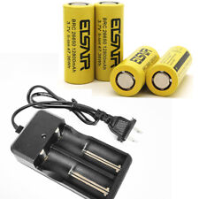 4pcs 26650 Battery 12800mAh Flat Top Li-ion 3.7V Rechargeable Batteries charger