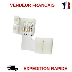 CONNECTEUR L POUR STRIP LED RGB 5050 SANS SOUDURE / RUBAN LED