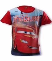 Garçon Officiel Disney Cars t-shirt t shirt Enfants Flash McQueen Top 3-8