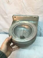 60's VTG BULLET WALL MOUNT ASHTRAY FLIP TOP SPUN ALUMINUM MID CENTURY RETRO