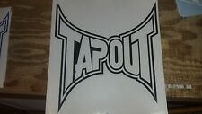 "Tapout Graphics Black 10 1/2"" X 9 3/4"" Large Window Decal auto car truck window"