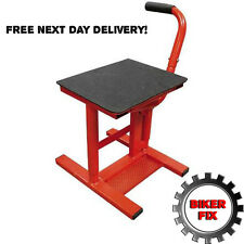 Motocross Enduro Trials Bike Off Road MX Lift Up, Jack Up Push Up Stand Red