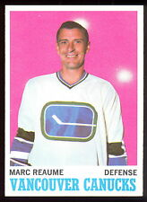 1970 71 TOPPS HOCKEY 119 MARC REAUME NM VANCOUVER CANUCKS CARD