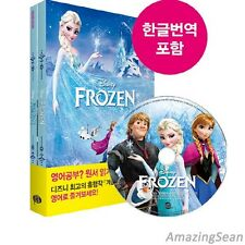Frozen English Book + MP3 CD + Workbook, Korean Language Book, Korean Book