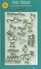 HERO ARTS clear stamp set HAPPY EVERYTHING Love Greetings JS158