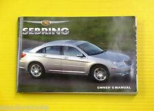 Sebring Sedan 07 2007 Chrysler Owners Owner's Manual Touring Limited All Models