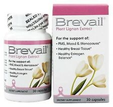 Brevail - Plant Lignan Extract - PMS - Mood - Menopause - 2 Bottles 30 Caps each
