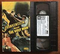 Frankenstein Meets the Wolf Man VHS (1942, 1986) BELA LUGOSI ~ RARE OOP HTF