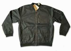 New Levi's Mens Long Sleeve Zipped Black Bomber Jacket XXL / 2XL