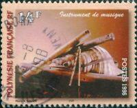 French Polynesia 1996 Sc#690,SG760 14f Wind Instruments FU