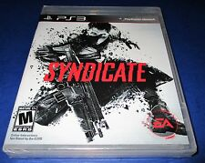 Syndicate Sony PlayStation 3 *Factory Sealed! *Free Shipping!