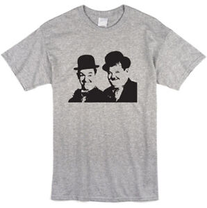 Laurel and Hardy Inspired T-shirt - Retro Movie Film Classic Tee - NEW