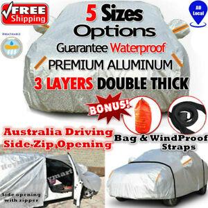 5 size Aluminum waterproof car cover rain resistant UV dust protect car cover