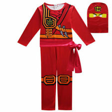 Boys Kids Ninjago Costume Jumpsuit Fancy Party Halloween dress Clothes Sets Hot