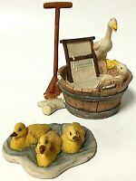 Vintage Lowell Davis Schmid Ducks Good Clean Fun Fair Weather Friend Figurines