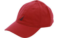 Nautica Mens Twill 6-panel Cap Deck Red One Size