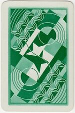 Playing Cards 1 Single Swap Card Old Vintage Art Deco OXO Geometric Advertising