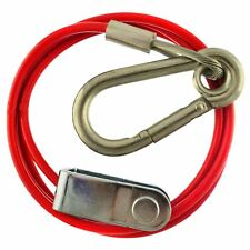 1m 3mm Braked Trailer Break Away cable with Clevis End TR222