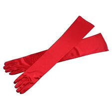 Fashion Long Gloves Satin Opera Wedding Bridal Evening Party Prom Costume Gloves