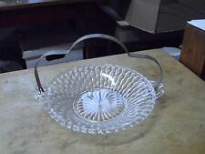 Vintage Glass Candy Dish by THE HELLER CO Brooklyn NY With Handle!