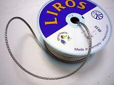 6mm Dyneema rope SK-78 LIROS D-Pro Silver, sailing, dinghy