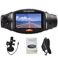 "Dual lens 2.7""LCD Vehicle Video CAR DVR Dash Cam Recorder Camera G-Sensor GPS"