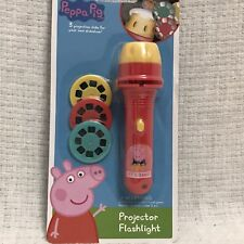 New Peppa Pig Projector Flashlight With 3 Projection Disks Toy Factory Sealed