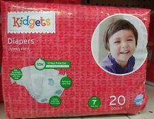 Kidgets Baby Diapers Size 7. 41 Pounds & Up...20 Count htf