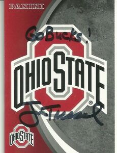 Jim Tressel The Ohio State Buckeyes Personally Autographed Card