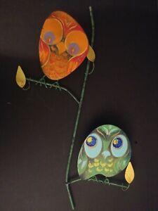 Original Early Curtis Jere Enameled Metal Owl Sculpture Modern '60s AMAZING