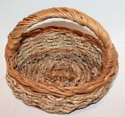"""Vintage Woven Easter Basket with Handle - 10"""""""