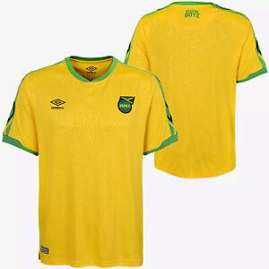 Umbro Men's Large Jamaica National Team Home Soccer Jersey, Yellow