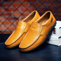 Fashion Men's Casual Driving Boat Shoes Leather Shoes Moccasin Slip On Loafer