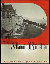1930's Manoir Richelieu Pictorial Brochure Quebec Canada Rare Vintage Original