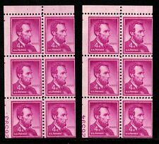 1958 US #1036b - 4c Lincoln Miscut Booklet Panes, Plates #26593 / 26594, Mint NH