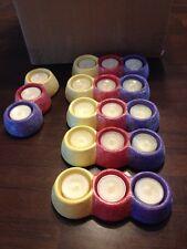 Yankee Candle Lot Of 6 Tl/h Trip Gumdrop P12 Tea light Holders With Tea lights
