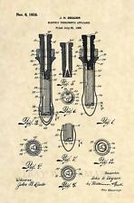 Official EARLY Vibrator US Patent Art Print- Antique Vintage Sex Toy Dildo 444