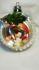 Italian Indent Diorama Ornament with Angel