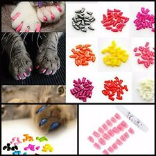 100Pcs Soft Pet Cat Nail Cap Claws Control Paws Large For Destructive Scratching