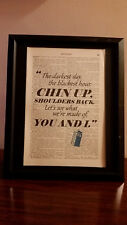 Antique Dictionary Art: Doctor Who Chin Up, Shoulders Back